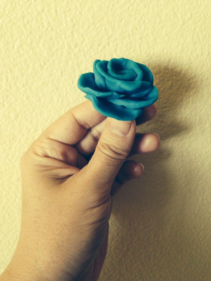 Playdoh rose
